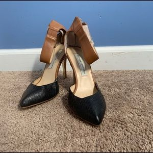Chinese Laundry heels with faux reptile print